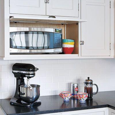 Best 25+ Hidden microwave ideas on Pinterest | Primitive kitchen ...