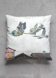 custom made throw pillow from original illustration