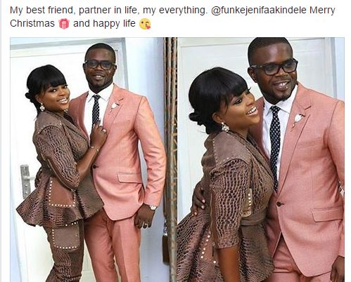 My Partner My Everything... JJC Skillz Xmas Message To Funke Akindele