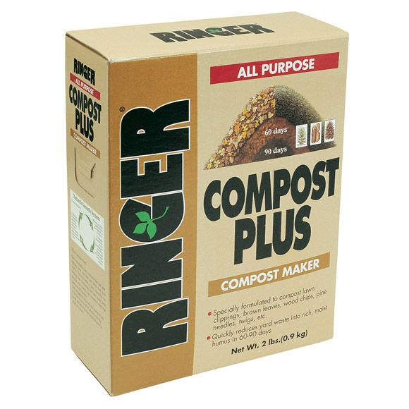 Ringer® Compost Plus Organic Compost Starter - Turn your yard debris into free compost for your garden! One bag converts 760 pounds of yard debris into compost, which can be used to fertilize your flower or vegetable garden! #organic #gardening