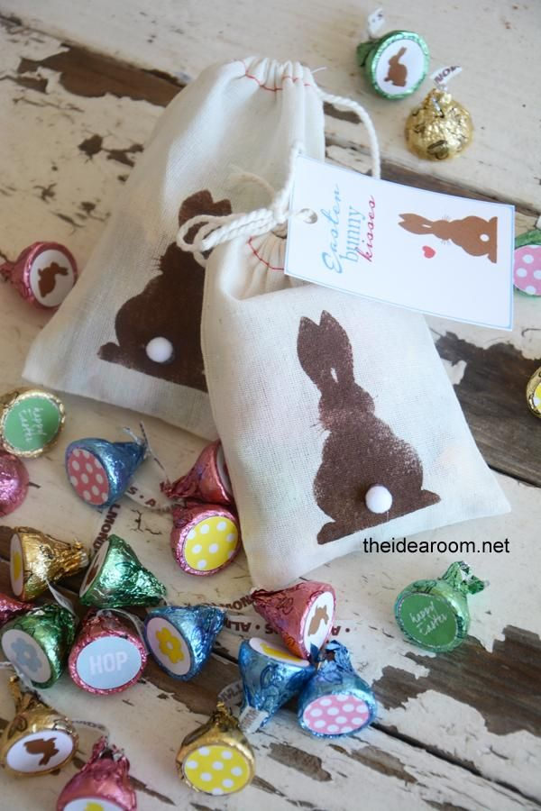 55 best easter ideas images on pinterest easter ideas easter make these adorable easter bunny kisses as a simple but thoughtful gift free printable easter kiss stickers and bunny bag silhouette printable negle