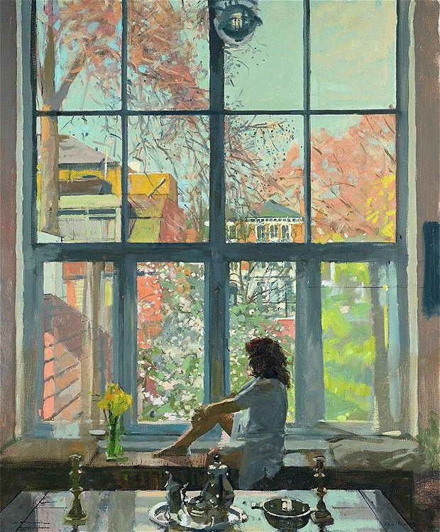 'Dora at Oriel, Spring' - Ken Howard (b.1932)