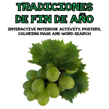 Spanish End of Year Traditions / Tradiciones de Fin de Año Interactive Notebook Finding ways to incorporate culture in our teaching is really important. This product will help you share with your students about some of the different traditions in Spain and Latin America. #Añoviejo #Añonuevo #Endofyeartraditions