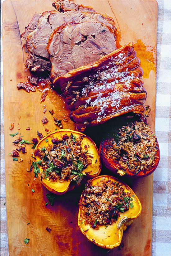 Slow-Cooked Pork Shoulder Roast Recipe with Stuffed Squash - Food and ...