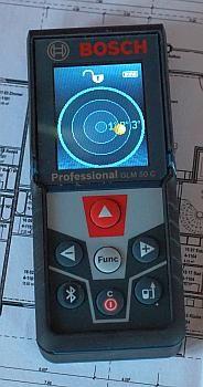 Bosch GLM 50 C als digitale Wasserwaage