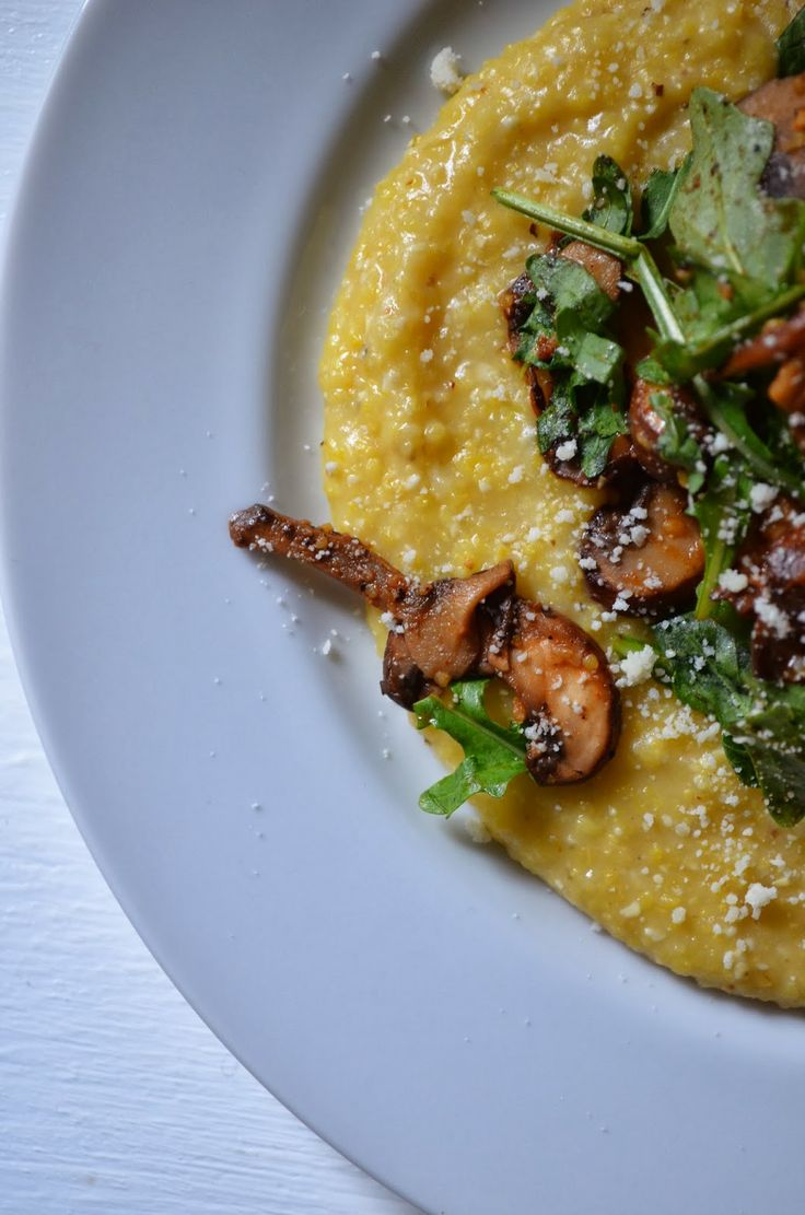 dinner soft polenta grits polenta polenta mushrooms polenta and eggs ...