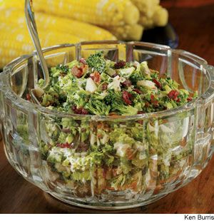 Broccoli-Bacon Salad - This delicious, low-fat salad also includes water chestnuts and cranberries.
