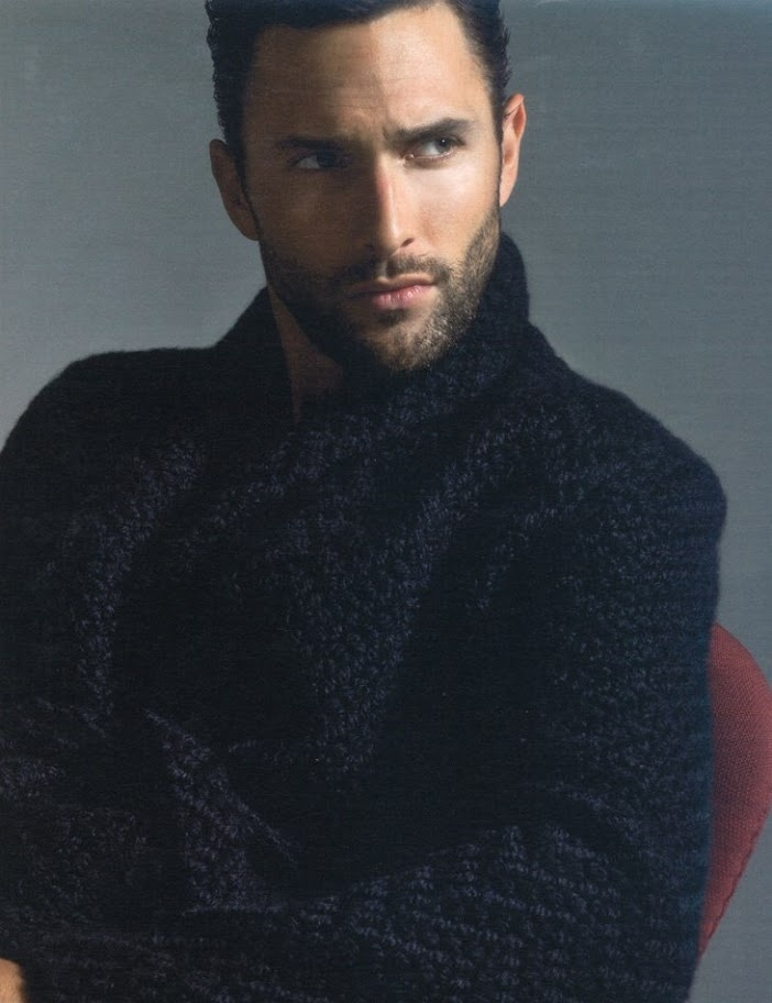 Noah Mills/ black bulky sweater