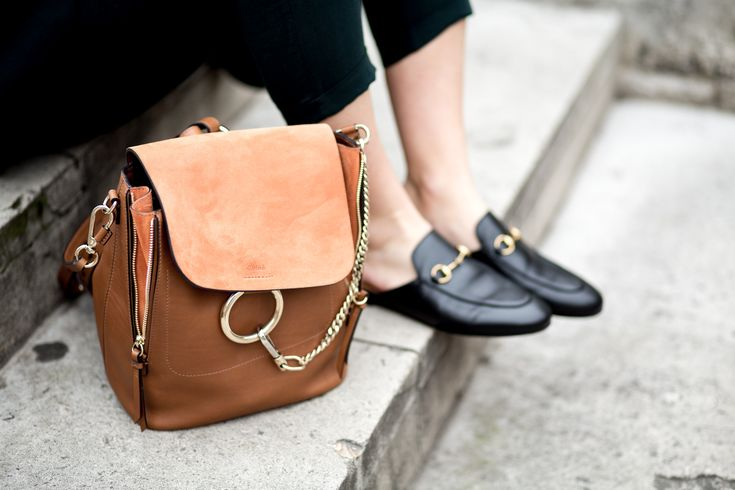 Five rules of power dressing   style   fashion tips   mediamarmalade   Chloe Faye Backpack   Gucci Princetown Loafers   Zara Forest Green Suit