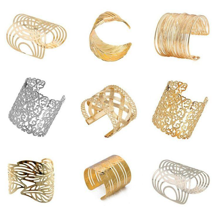17 Kinds Women Unisex Charm Bracelets Fashion Vintage Bracelets Simple Geometric Style Pop Punk Metal Bracelet Gold Bangles silver
