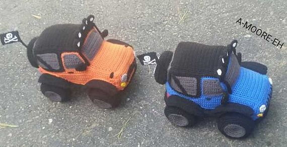 CROCHET PATTERN Only Off Road Jeep Softee 4x4 Truck by AMooreEh
