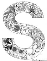s animal alphabet letters to print - S Colouring Pages