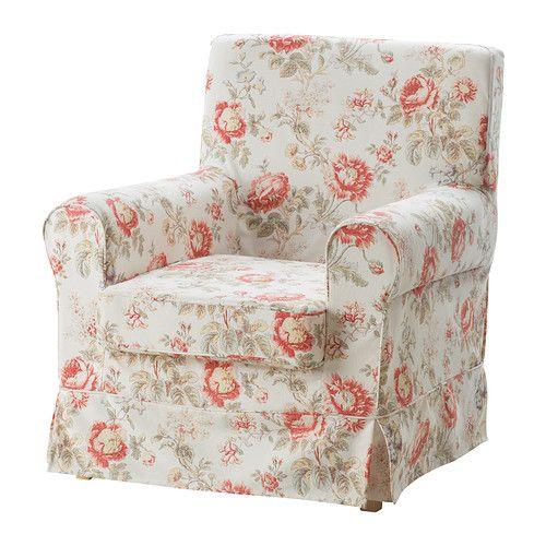 IKEA - EKTORP JENNYLUND, Fauteuil, Byvik veelkleurig, , Door de diverse hoezen die verkrijgbaar zijn, kan je het uiterlijk van je meubel eenvoudig veranderen.De overtrek is afneembaar en machinewasbaar en dus eenvoudig schoon te houden.