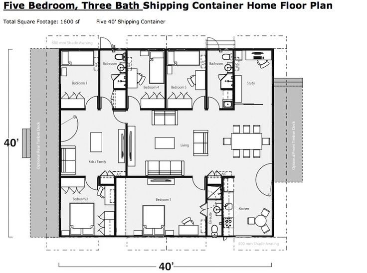 Good Example Of A Shipping Container Home Floor Plan