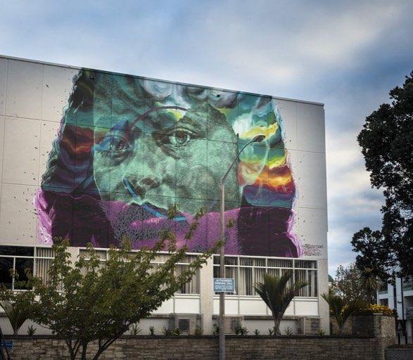 New mural by @askewone in Napier New Zealand for @seawalls_ by powwowworldwide