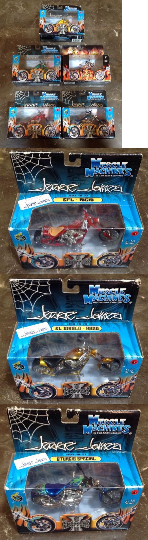 Contemporary Manufacture 45348: 5 Die Cast Muscle Machines West Coast Choppers Jesse James Motorcycles -> BUY IT NOW ONLY: $100 on eBay!