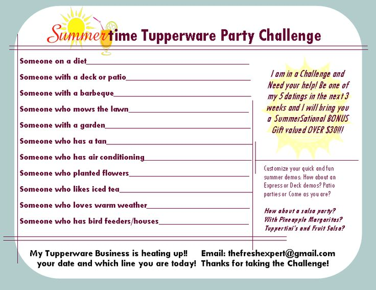 17 Best images about Tupperware Party Ideas on Pinterest ...
