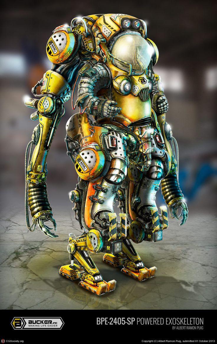 BPE-2405-SP Powered Exoskeleton, Albert Ramon Puig on ArtStation at https://www.artstation.com/artwork/K89y