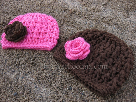 Crochet Baby Hats. Another gift idea!