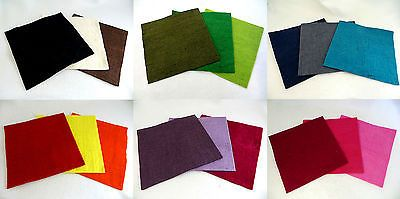 100% Pure Wool Felt Piece Mixes - 30x30x0.3cm - Felting Fabric Square Sheets