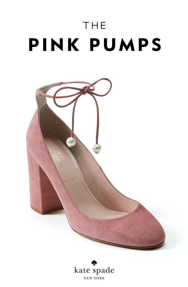 the pink pumps: pale pink heels accented with pearls. je t'aime. gena heels. a fall 2017 must-have.