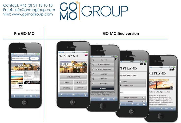 GOMO Group är en ledande mobil webbplats utvecklingsföretag i Sverige. Företaget erbjuder också sina kunder med mobil marknadsföring tjänst.