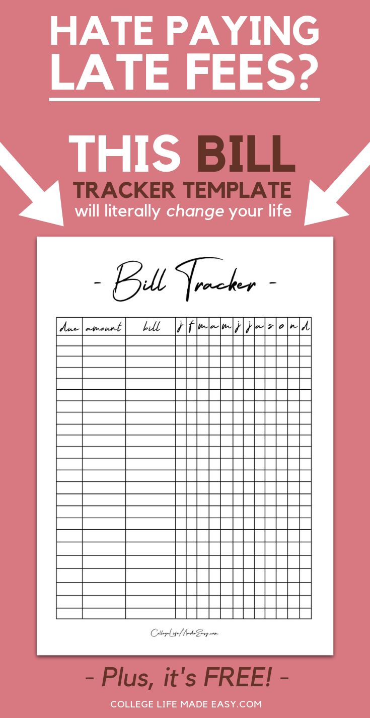this free bill tracker template will literally change your