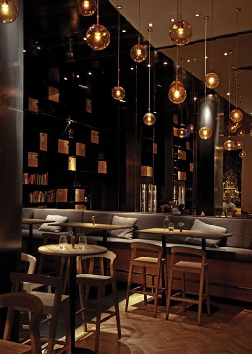 zona bar restaurant interior design ideas modern furniture design - Beaded Inset Restaurant Interior