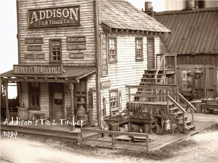 Old general store. (fiction) Part of the main business district in Stillwater Springs, early 1900's. X