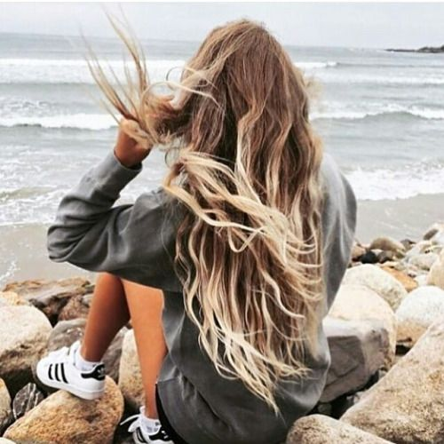 Para morenas con cabello largo! Precioso.