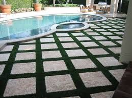 Image result for artificial turf between pavers