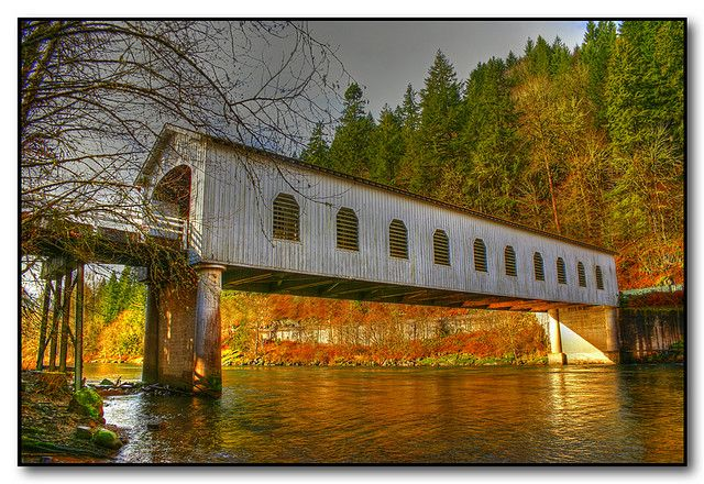 Oregon Covered Bridge (hdr) by Roger Lynn, via Flickr