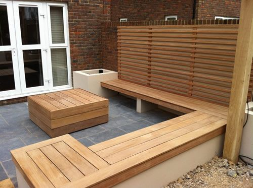The main entertaining area includes built in hardwood seating, outdoor lighting and a shade sail for shelter on those rainy days… All this makes this garden space a great place to enjoy well into the evening.