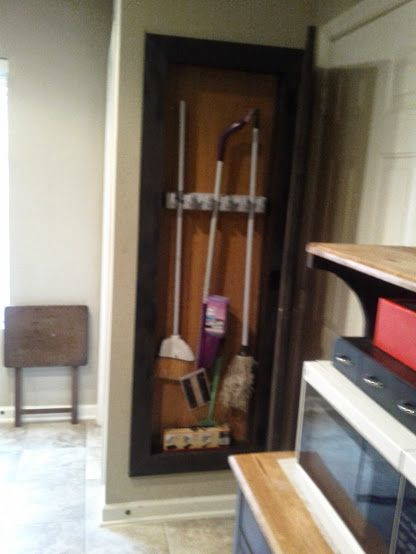 1000 Images About Between Stud Broom Closet With Barn Door On Pinterest Places Nice And