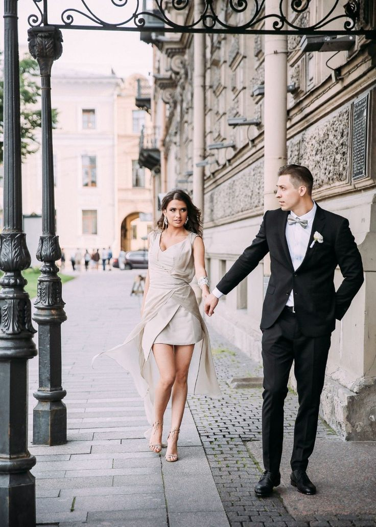 chic bride and groom жених и невеста