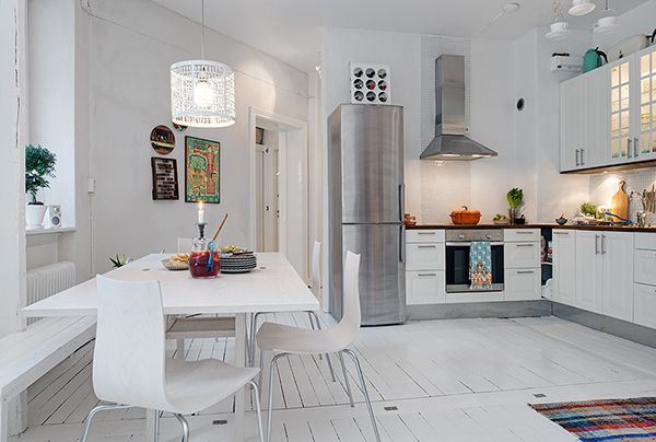 Different Angle Apartment in Sweden1 Precious White Apartment With Shabby Chic Details in Gothenburg