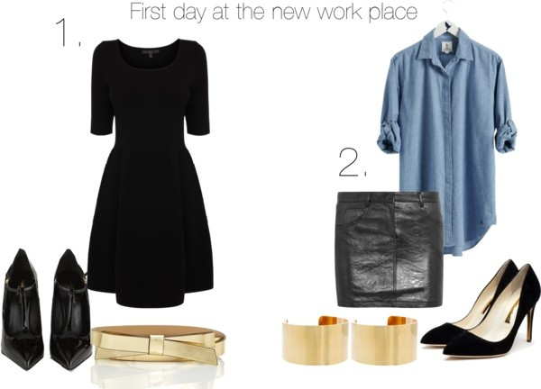 """First day at the new work place"" by lalasfashiondreamworld on Polyvore"