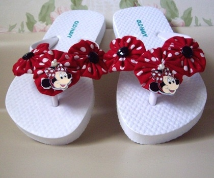 Childs Designer Flip Flops with Disney Minnie Mouse by aquarius247 - StyleSays