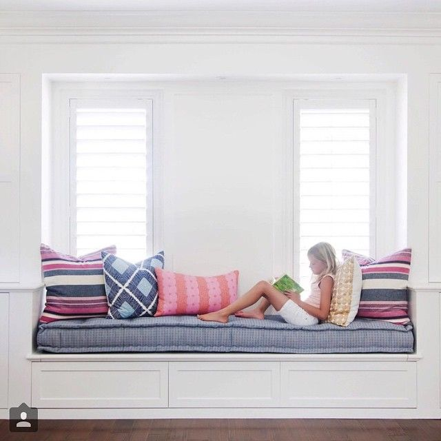 "#Regram from @studiomcgee: ""Head over to @dominomag to see our tips on creating a playroom that is kid-friendly and looks great too!"" {window seat fabric} Thanks for the feature!"