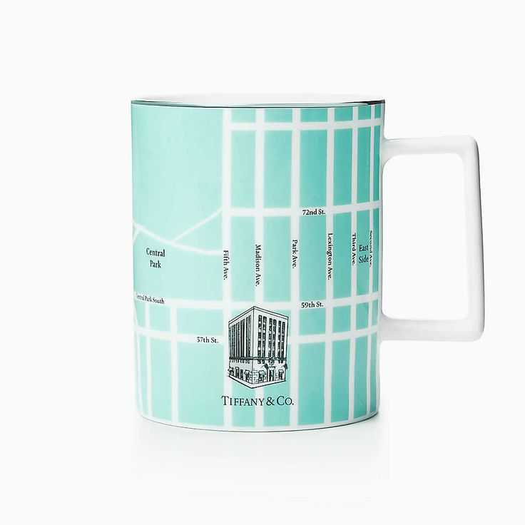 tiffany and co Manhattan Map Mug $55