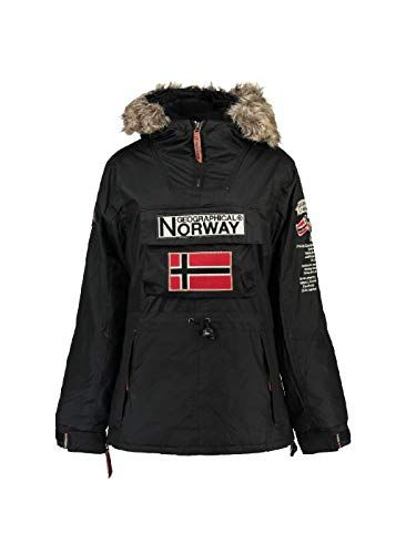 Geographical Norway - Parka Femme Boomera Noir-Taille - 3  025b21b8dea
