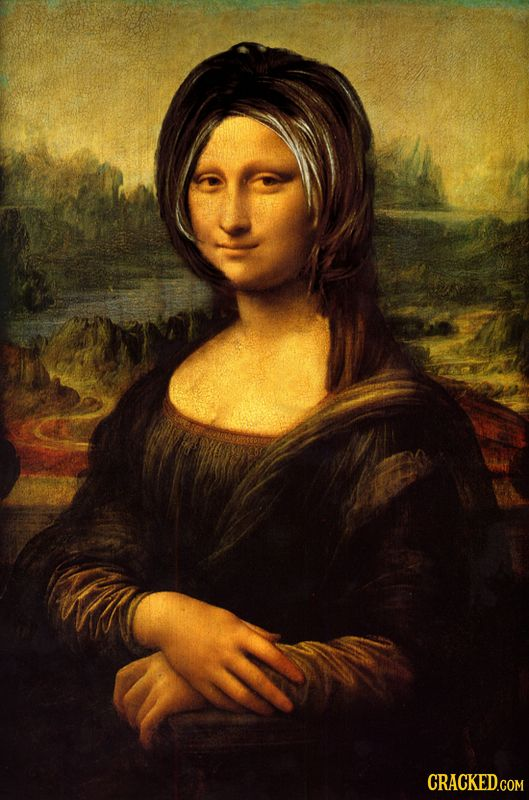 Famous Pop Culture, If It Was Made in the '90s #MonaLisa #Friends