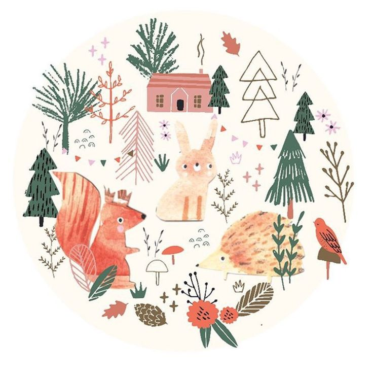 Design by bettyjoydesignstudio   Experimenting with some of the icons from my recent custom piece and these little woodland folk. Bunny looks a bit shifty! #bettyjoy #bettyjoydesignstudio #woodland #woodlandfolk #ifyougodowntothewoods #redsquirrel #bunny #hedgie #logcabin #autumn #design #print #freelance #freelanceillustrator #ukillustrator #Ukdesigner #watercolour #vector #nurseryart #print #cute #artforkids #customart #customdesign