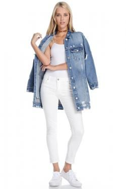 DISTRESSED DENIM JACKET BY TRES BIEN CLOTHING