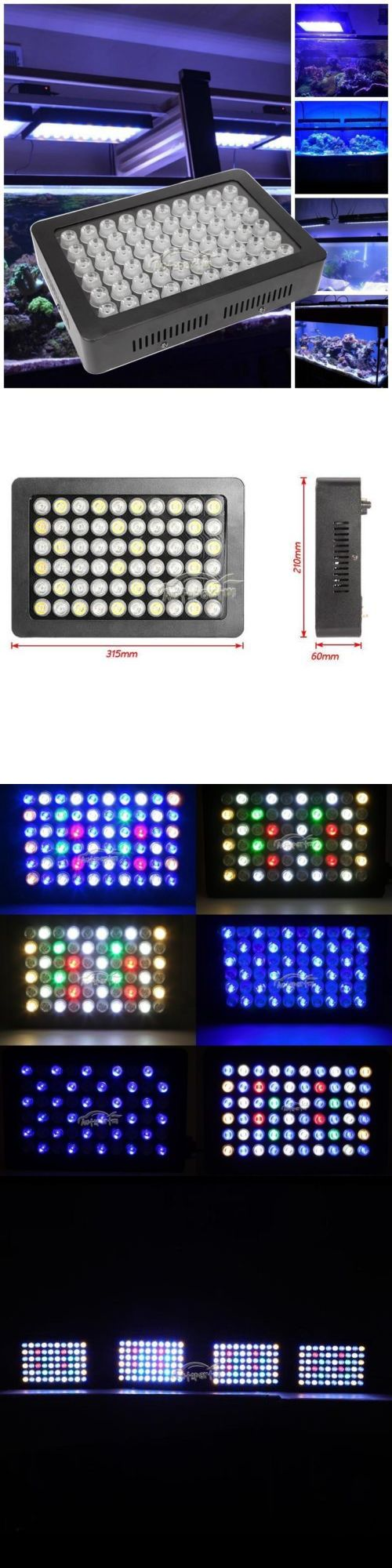 Lighting and Bulbs 46314: Brand New Dimmable 180W Led Aquarium Light Full Spectrum Reef Coral Sps Lps BUY IT NOW ONLY: $71.88