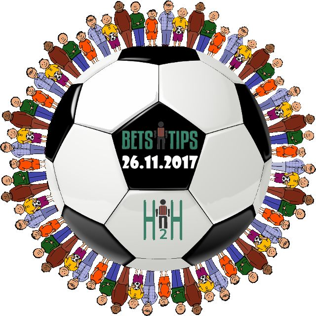Football bet H2H The bestFootball bet H2H, H2H Statsfor 26.11.2017 Our team isanalyzing all H2HFootball bet for the next days, in order to bring you the best Football bet H2H, also to help you with your Soccer predictions and to cut your time in search of the best Football bet, we are publishing what we think that is special or unusual. We are going with traditional 1×2 records, over 2.5, under 2.5, btts-Yes or No. When we notice something interesting in past performance and stats…