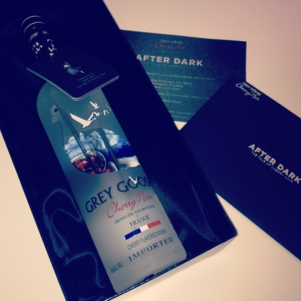via @amandalewkee This was a pleasant afternoon delivery! @greygoosecherry #afterdark #greygoose