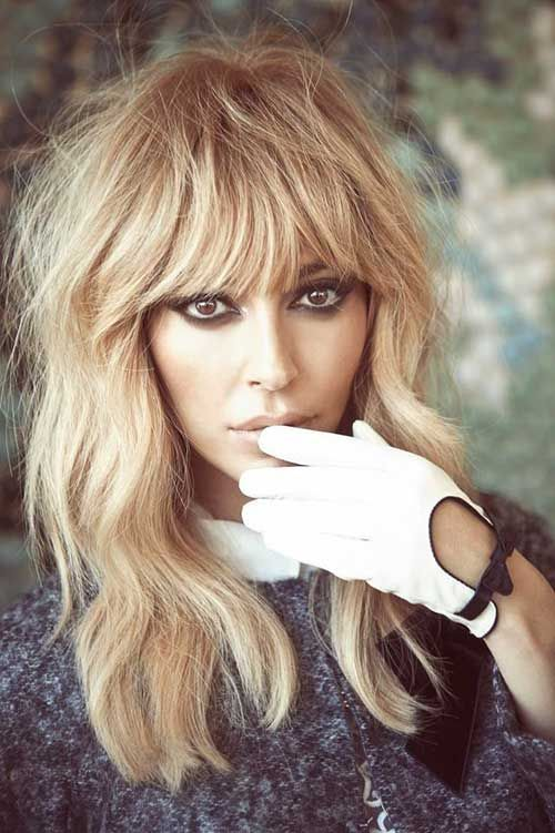 Blonde Hair and Bangs Long Haircut Ideas