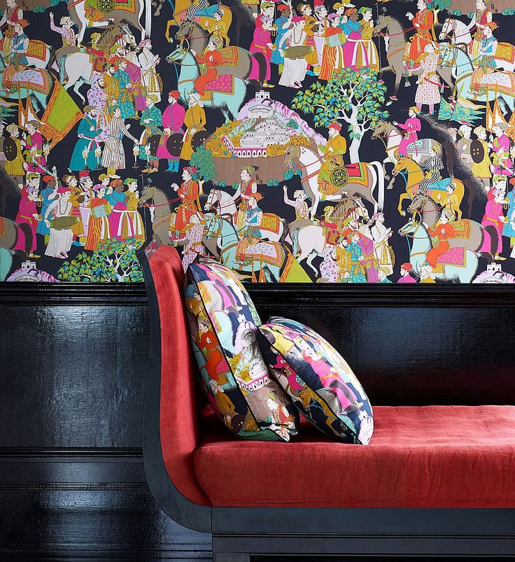 Manuel Canovas's Dara wallpaper is non-woven and inspired by tales of early India.