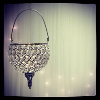 art deco tea light crystal hanging lantern by made with love designs ltd | notonthehighstreet.com